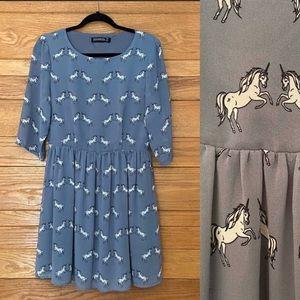 Sugarhill Boutique unicorn novelty print dress
